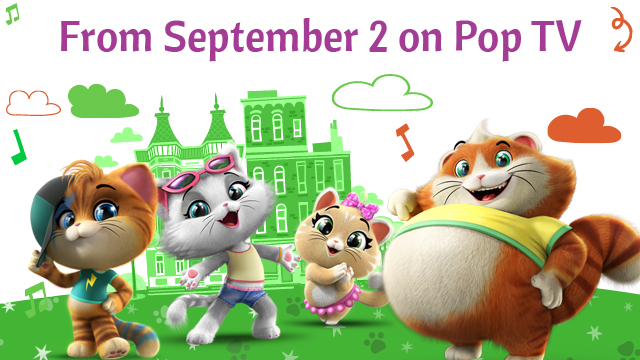 44 Cats premiere on United Kingdom on Pop TV from September 2