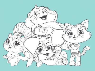 Contenuti da scaricare disegni per bambini da colorare for Immagini gatti da colorare